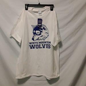 NWT WMO Wolves White Short Sleeve Tee Size XL